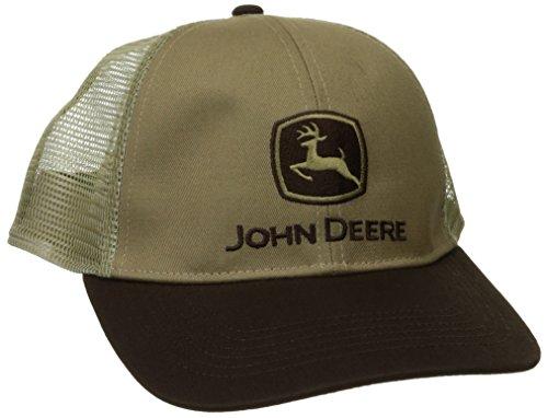 John Deere Herren Strech Band Cap Mesh Back - Braun - Einheitsgröße - Kappe-Ärmel-mesh-cap