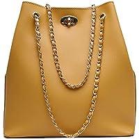 Envias Leatherette Handbags For Women's Ladies (ChainStrap_Camel_EVS-114)