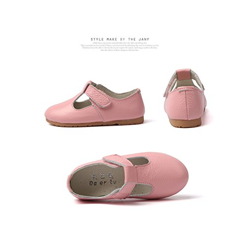 O&N Maedchen Schuhe Prinzessin Schuh Kleinkind Studenten Lederschuhe Tanzschuhe weiche Sohle Freizeitschuhe Flache Schuhe 21-35 Rosa