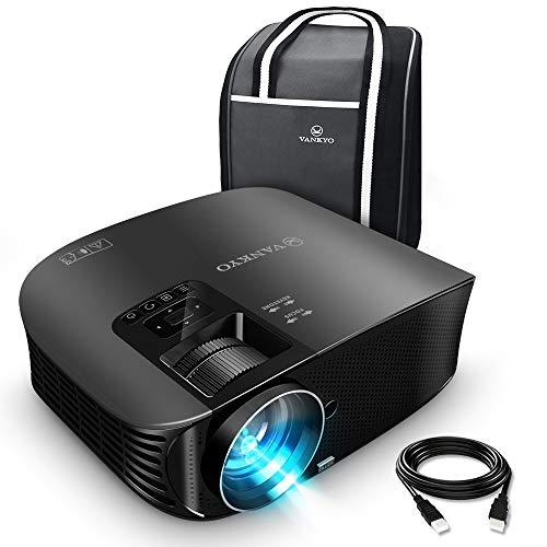 VANKYO Leisure 510 Beamer 3600 Lumen,Full HD Heimkino Beamr mit 200 Zoll Projektionsgröße 5000 Stunde Video Projektor ,Unterstützt Smartphone, Laptop, Pad, Fire TV Stick mit HDMI-Kabel (schwarz)