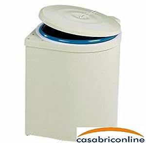 poubelle ronde encastrer amovible conteneur ouverture automatique avec tirette amazon. Black Bedroom Furniture Sets. Home Design Ideas