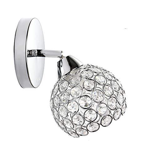 Moderna lampada di cristallo di modo semplice lampada da parete soggiorno camera da letto ingresso corridoio lampada da parete dimensioni 20 * 12 * 12 centimetri argento singola testa calda luce
