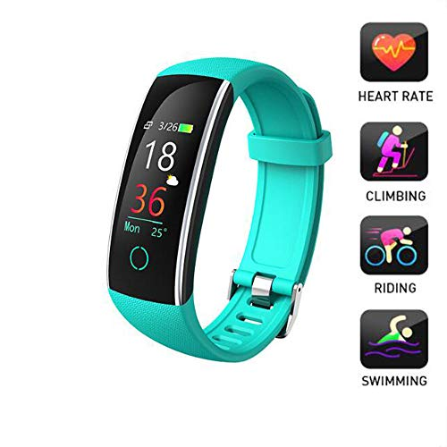LMtt Fitness Tracker, Smart Armband, Fitness-Tracker Herzfrequenz-Sportuhr Relogio Mp3 Smart Armband Smart Armband Pk mi Band 3 Pk Ehrenband 4,Green Pk Mp3