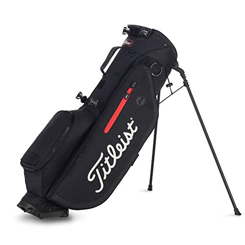 TITLEIST Players 4 Golftasche für Herren, Herren, TB9SX4-0, Schwarz/Weiß/Rot, Unica