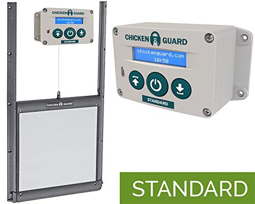 Kit Porte verrouillable et Portier Automatique ChickenGuard Standard FR poulailler