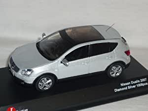 Nissan Qashqai Dualis Diamant Silber Weiss Metallic 1/43 J-collection Modell Auto Modellauto