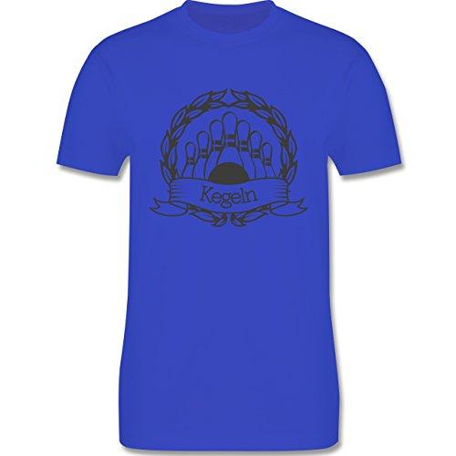Bowling & Kegeln - Kegeln Lorbeerkranz - Herren Premium T-Shirt Royalblau