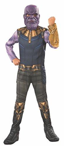 Avengers - Disfraz Thanos para niño, 8-10 años (Rubie'S 641055-L)