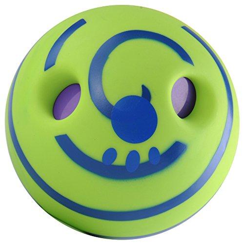 DINGANG Wobble Wag Kicherball Hundespielzeug, Ball mit Geräuscheffekten, hält das Tier den ganzen Tag bei Laune