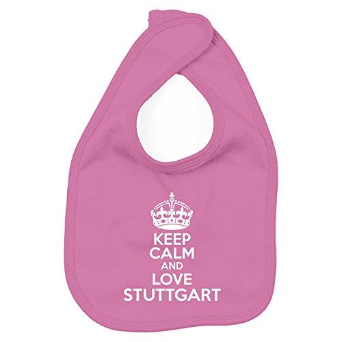 Lätzchen - Keep Calm And Love Stuttgart - Heimweh Geschenkidee Deutschland, Pink