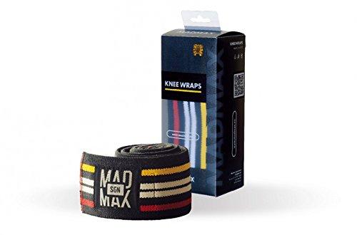 MAD MAX Damen Madmax Knee Wraps Kniebandage, Schwarz, Einheitsgröße