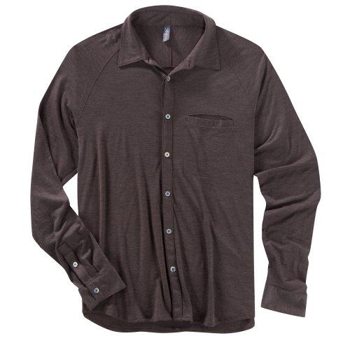 Ibex Outdoor Bekleidung Herren OD Heather Long Sleeve Shirt, damen Herren, Brown Metal Heather (Button-down-brown Bekleidung)