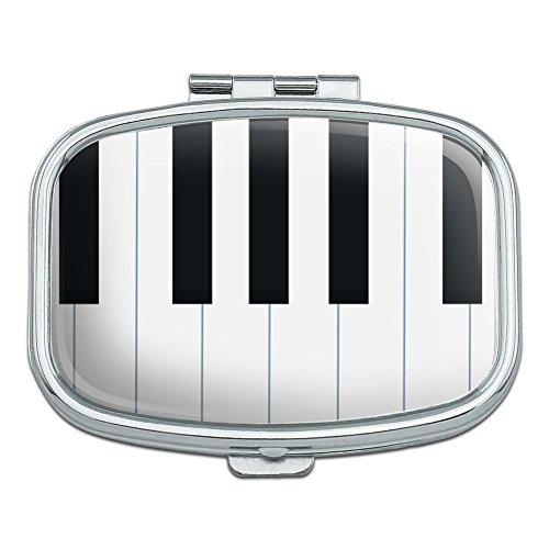 Klaviertasten Tastatur Pianist Musik Rechteck Pille Fall Schmuckkästchen Geschenk-Box (Coin Tasche Ändern)