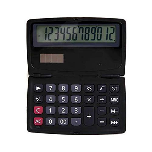 Tragbarer Taschenrechner Studentenbüro Finanzwissenschaft 12-stelliger Anzeigecomputer Dual Power Desktop-Rechner