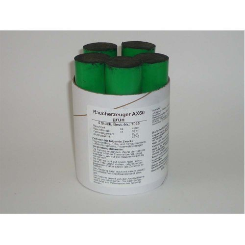 Preisvergleich Produktbild Rauchpatronen AX-60 grün 5 Stück