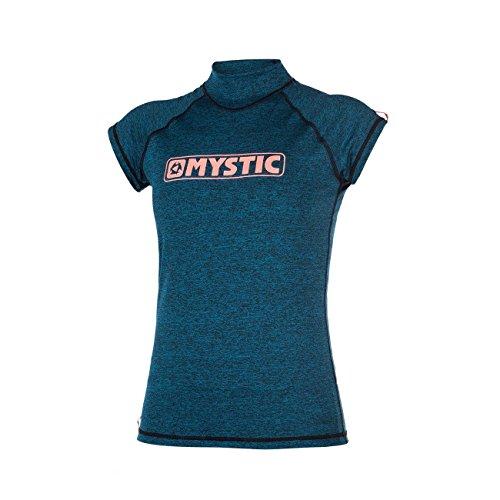 Mystic Wassersport - Surf Kitesurf & Windsurfen Frauen Stern Short Sleeve Schnell Dry Leicht Rash Vest Top Teal (Sleeve Up Short Cover)