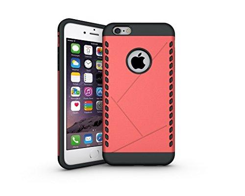 """Case iphone 6plus / 6 s plus 5.5 """"cas antichoc en caoutchouc dur en plastique cellulaire Coque rouge"""