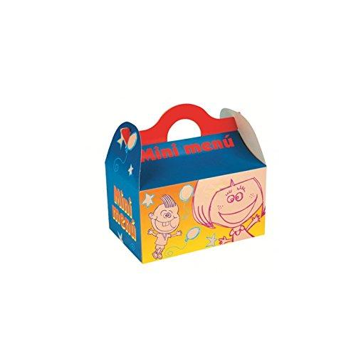 Caja para menú infantil - cumpleaños - fiestas - pack 25 und