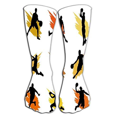 "Jxrodekz Outdoor Sports Männer Frauen Hohe Socken Stocking Basketball Stars Fliesenlänge 19.7""(50cm)"