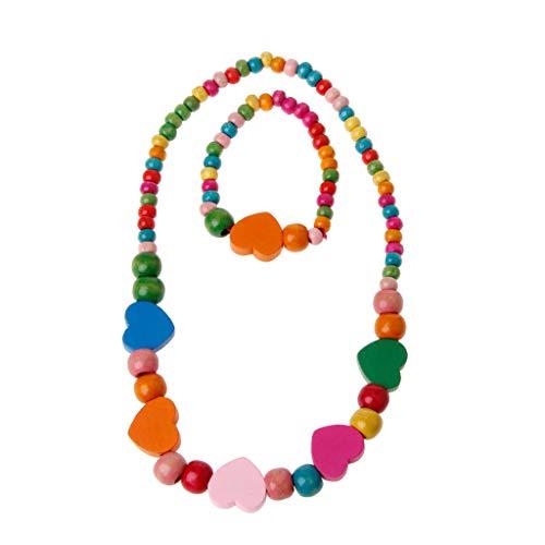 t Schmuck-Set, Prinzessin Halskette Armband Schmuck Set Kleinkind Kinder Kostüm Schmuck Für Kinder Liebe ()