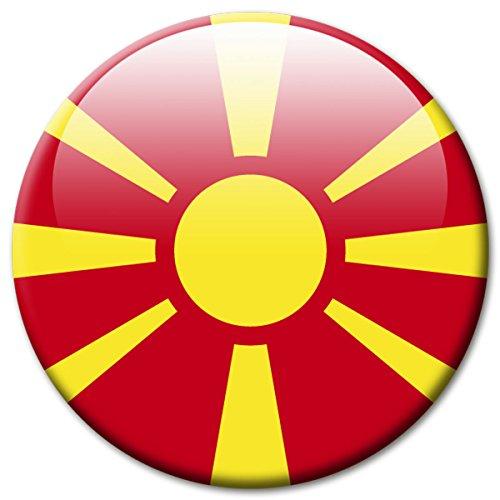 azedonien Flaggen Magnet Länder Reise Souvenir Flagge für Kühlschrank stark groß 50 mm ()