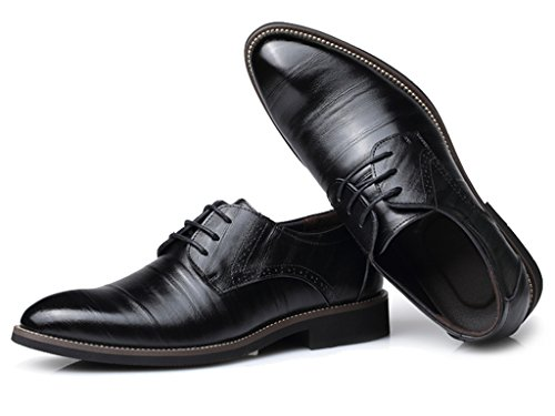 Eagsouni Derbies smart oxford Chaussures de ville en cuir verni à lacets - Homme Noir
