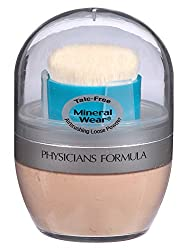 Physicians Formula Mineral Wear Talc Free Mineral Airbrushing Loose Powder, Natural Beige, 0.35 Ounce