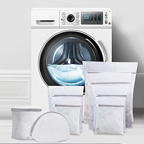 Ipow [8 PCS] Bolsa de lavandería con cremallera, 6 tamaños, Red de lavandería de malla fina para lavadora/secadora, ropa sucia, sujetadores, ropa interior, ropa de bebé, calcetines, etc