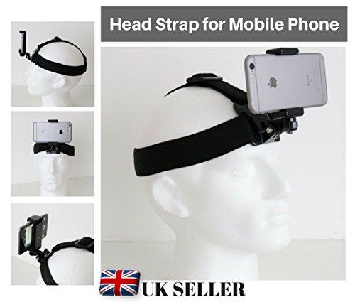 Designo Head Helmgurt Band Halterung für Handy zu verwenden wie Action Kameras passt universal iPhone Samsung Sony Huawei HTC Nokia Asus Lenovo
