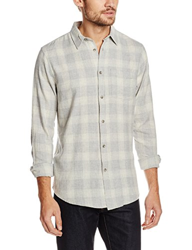 New Look Herren Freizeithemd Grey Buffalo Check Grau (Light Grey)