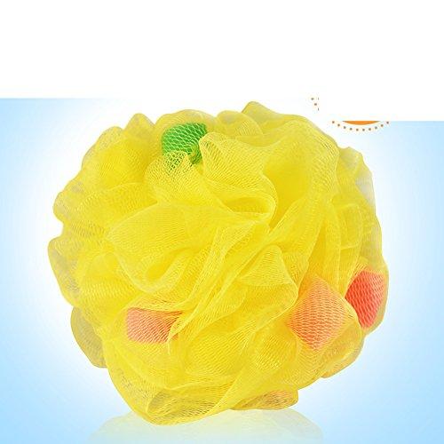 Exfoliante esponja, fricción espalda esponja, esponja de masaje, D, 13x13cm(5x5inch)