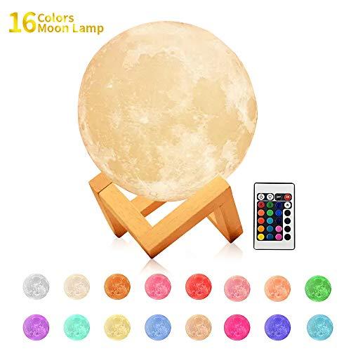 CYMY Cooles Spielzeug für 3-12 jährige Jungen, 16 Farben LED 3D Mondlicht Nachtlicht für Kinder Neue lustige Toys Geschenke für 3-12 jährige Jungen Mädchen Baby-Liebhaber Toldder Geburtstagsgeschenk - Geschenke Mädchen 3-jähriges