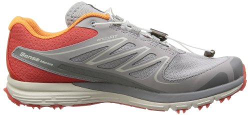 SALOMON - Chaussures Trail Femme - SENSE MANTRA 2 W Gris/Orange 14 Orange