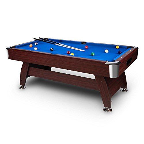 OneConcept Billiard Pool Table With Extensive Accessories Set - Adjustable pool table