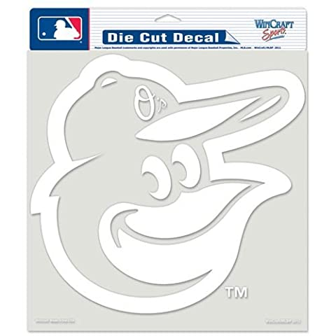 Caseys Distributing 3208524969 Baltimore Orioles Die-Cut Decal- 8 in. x 8 in. White