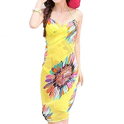 Livina Yellow Sexy Sling Beach Wear Dress Sarong