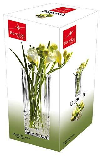 Bormioli Rocco Duemila Square Flower Vase, with Gift Box Scalloped-edge-box