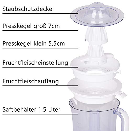 Elektrische Zitruspresse – 15 L – TZS First Austria Bild 4*