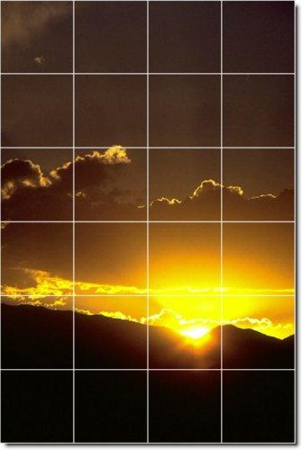 PUESTAS DE SOL FOTO BALDOSA CERAMICA MURAL 2  17X 25 5CM CON (24) 4 25X 4 25AZULEJOS DE CERAMICA