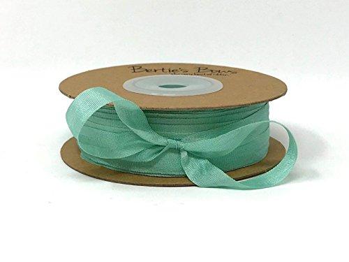 Berties 'Bögen Duck Egg Blau 7mm 100% natürlichen Seidenband auf Einer 3m Länge (Bitte Beachten Sie: Dies ist Ein aus Einer Rolle Geschnitten, auf Ein Band Karte) (7 Mm Seidenband)