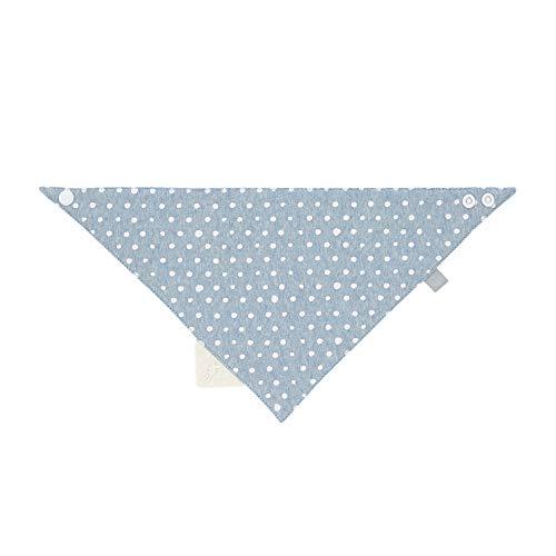 LÄSSIG Baby Kinder Bandana mit Beißelement Lätzchen Baumwolle Druckknopf saugfähig doppellagig beidseitig tragbar/Bandana Lela light blue