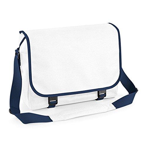 Messenger bag BagBase Bianco/navy