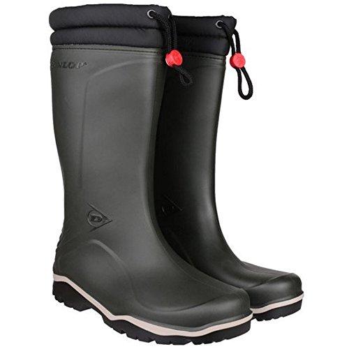 Dunlop blizzard bottes d'hiver unisexe avec intérieur en fourrure synthétique Noir