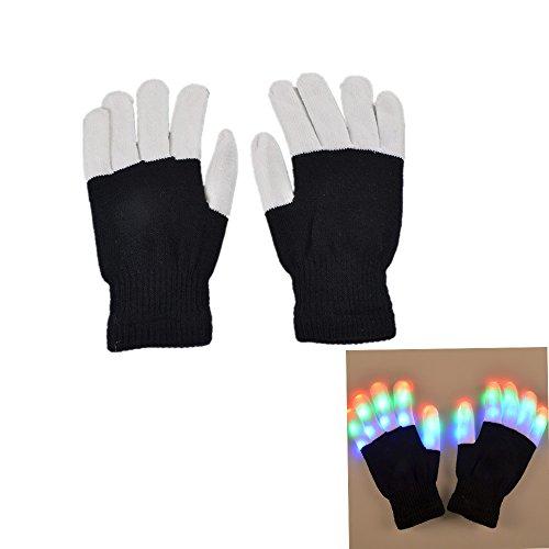 ode-LED Rave Blinklicht Glow Finger-Handschuhe für Clubs, Festivals, Weihnachten, Laufen, Radfahren, Sports (Glow Handschuhe)