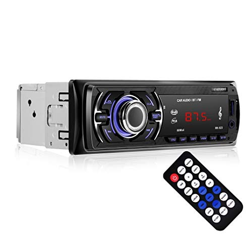 Car radio MP3, LESHP MP3 autoradio player 1 din FM, Bluetoothe, USB, AUX, 4 x 60 w stereo speakers with equalizer for car dashboard