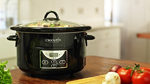 Crock-pot 4.7l Gloss Black Digital Countdown Slow Cooker