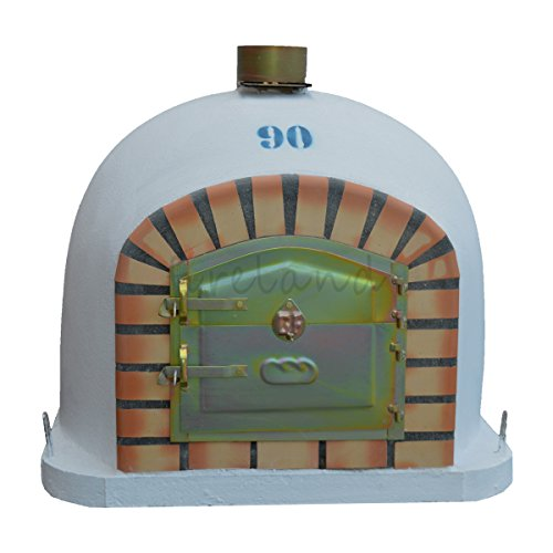 Outdoor Wood Fired Oven 90 x 90cm Garden / Paito Real Fire Barbecue