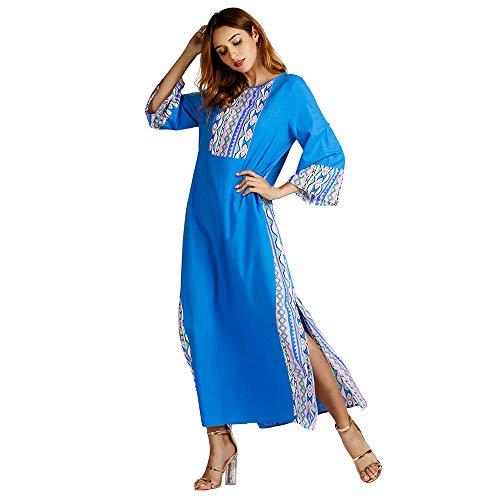 0dc50afaa118b Ladies Muslim Dress Dubai Kaftan for Women Long Sleeve Long Arabic Dress  Abaya Islamic Clothing Girls
