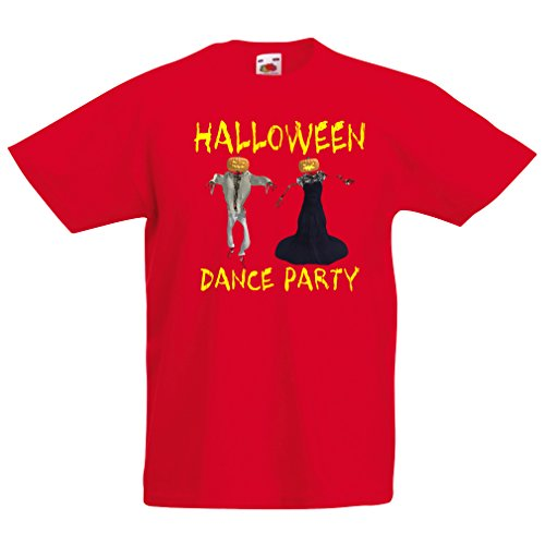 Kinder T-Shirt Coole Outfits Halloween Tanz Party Veranstaltungen Kostümideen (7-8 years Rot (Mario Tanz Kostüm)