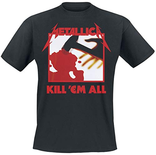 Metallica Kill 'Em All Tracks_Men_BL_TS:1XL Camiseta, Negro...
